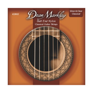 A picture of our Dean Markley Ball End Nylon Silver and Clear 28-42 Gauge Classical Guitar Strings