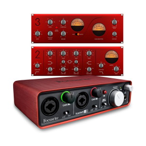 A picture of our Focusrite Scarlett 2i2 Audio Interface