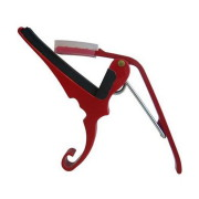 A picture of our 6 String Quick Change Guitar Capo Acoustic - Red