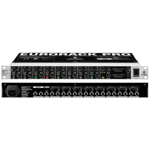A picture of our Behringer Eurorack Pro RX1602 Line Mixer
