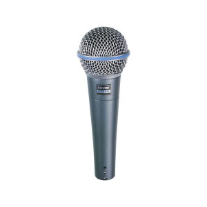 A picture of our Shure Beta 58 Vocal Microphone