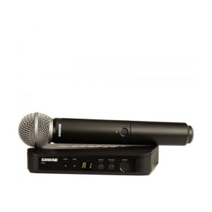 A picture of our Shure PG58 BLX24 Wireless Microphone System