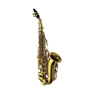 A picture of our Yanagisawa SC991 soprano saxophone - curved bell