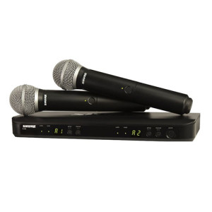 Shure BLX288 PG58 Dual Channel Handheld Wireless System 1