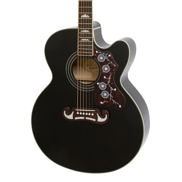 Epiphone EJ200CE Black with Gold Hardware