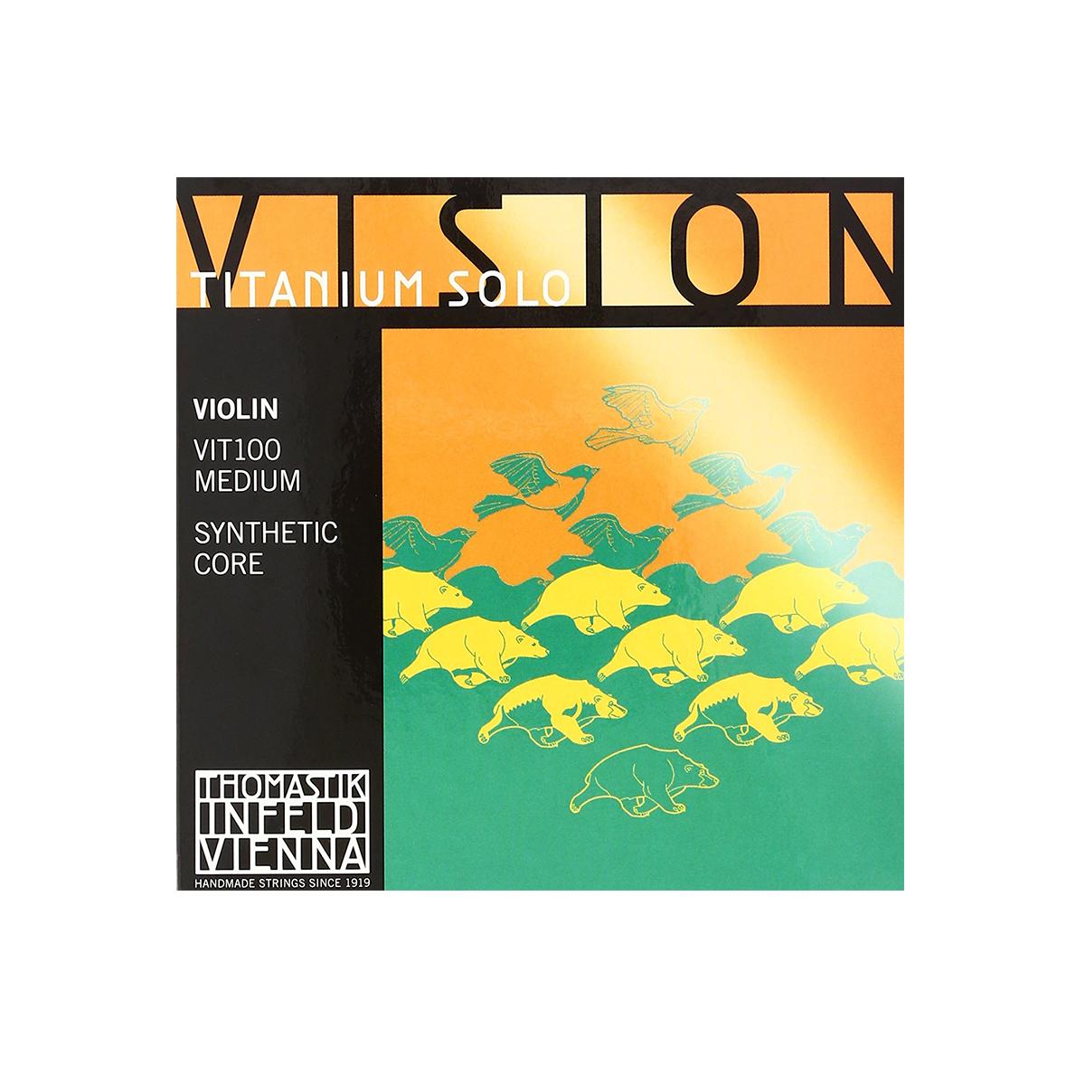 Thomastic Vision Synthetic Core Violin String Set