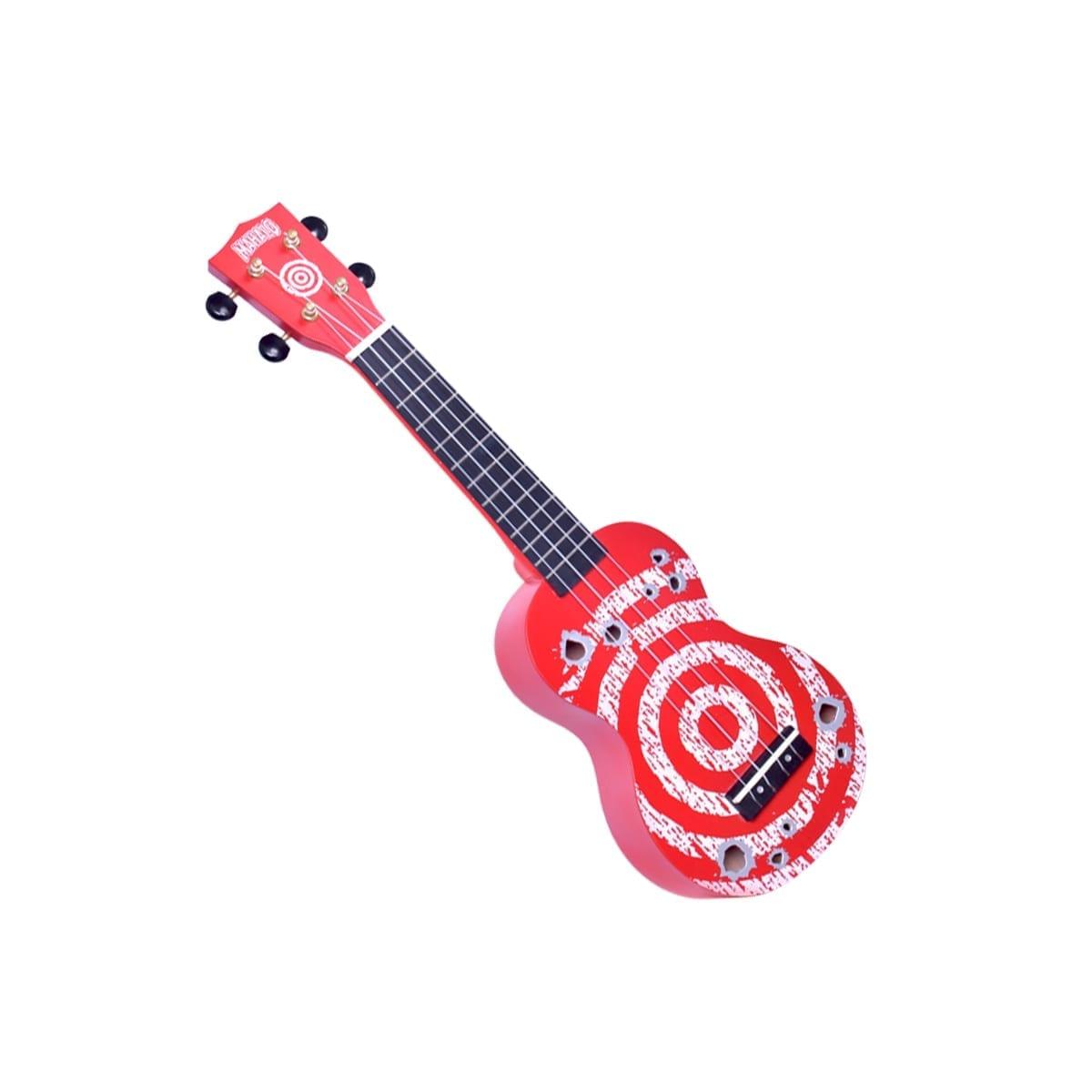 Mahaolo Target Soprano Ukulele - Red