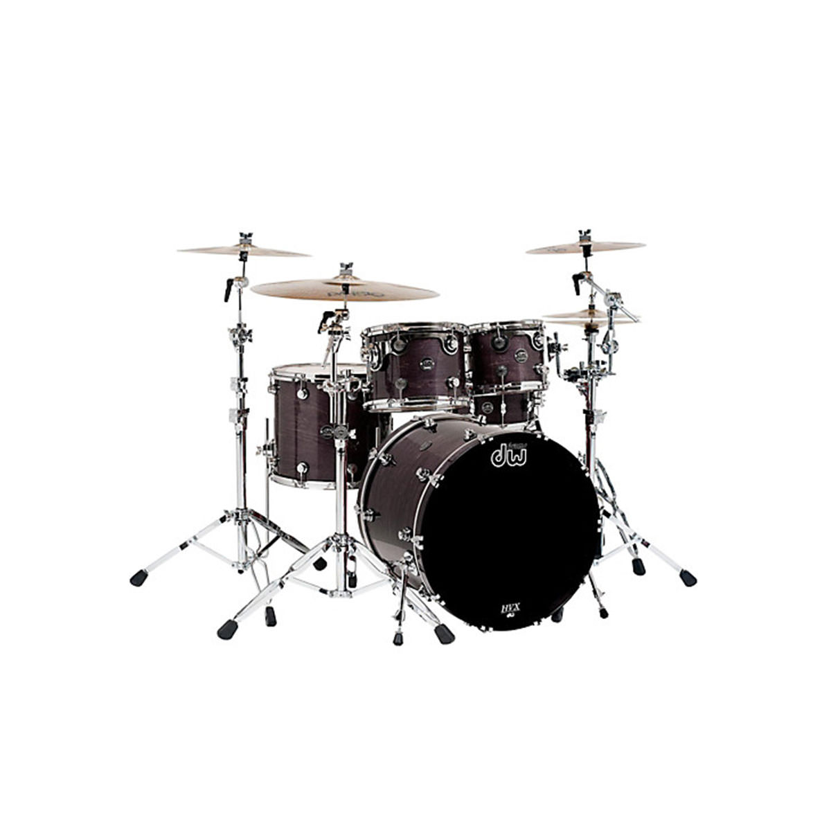 DW Performance 5 Piece Shell Pack - Ebony Stain