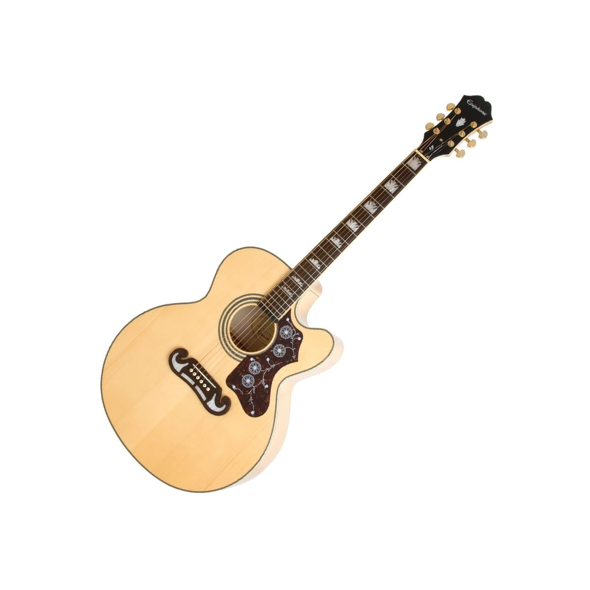 Epiphone EJ200CE Natural Gold Hardware
