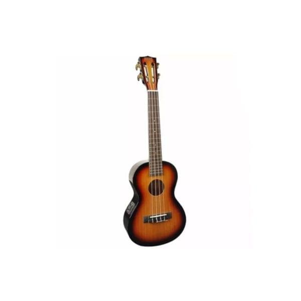 Mahalo Ukulele Concert w/ Pickup – 3 Tone Sunburst 1